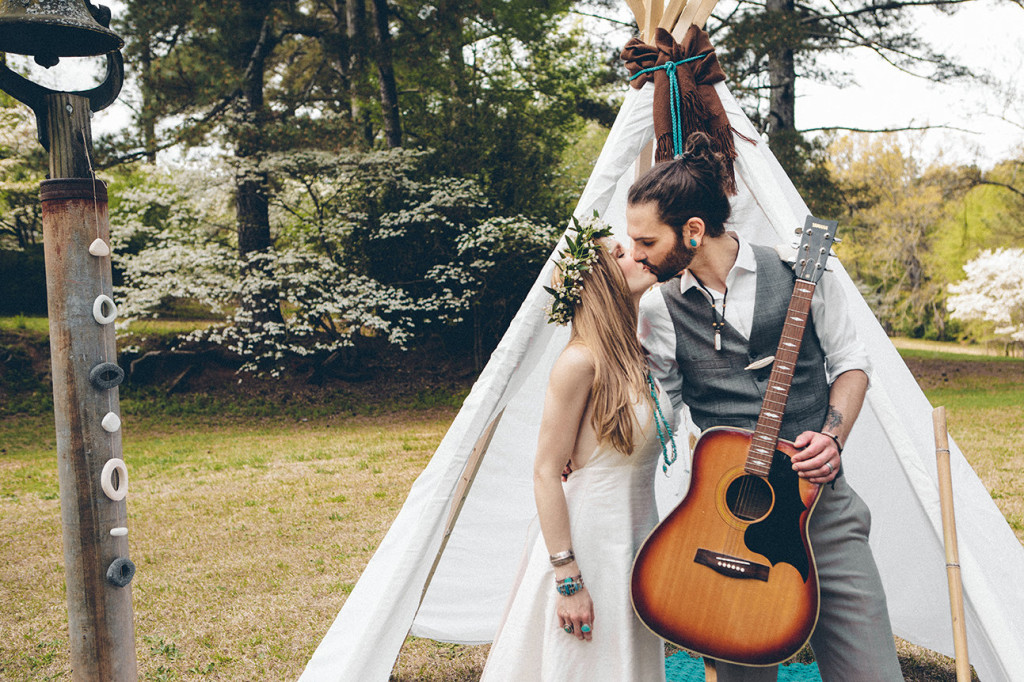 southwestern woodland wedding photo shoot