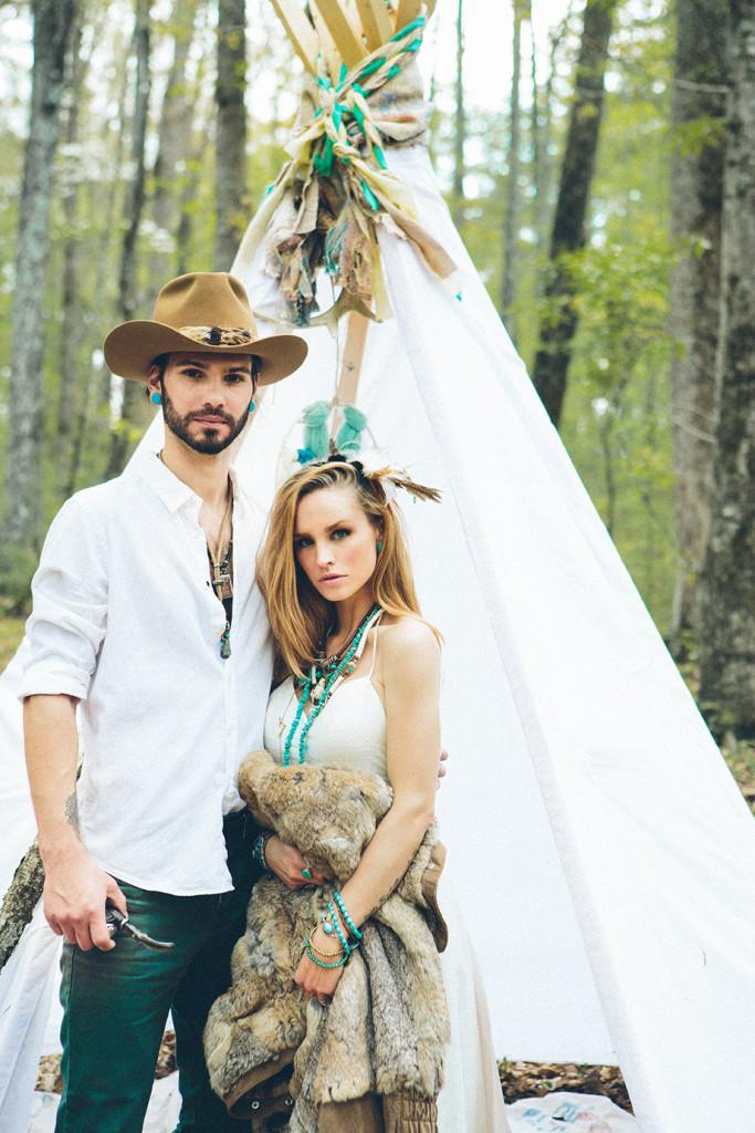 southwestern woodland romance wedding shoot