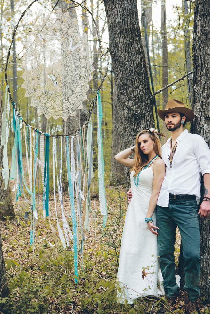 southwestern woodland wedding photo shoot