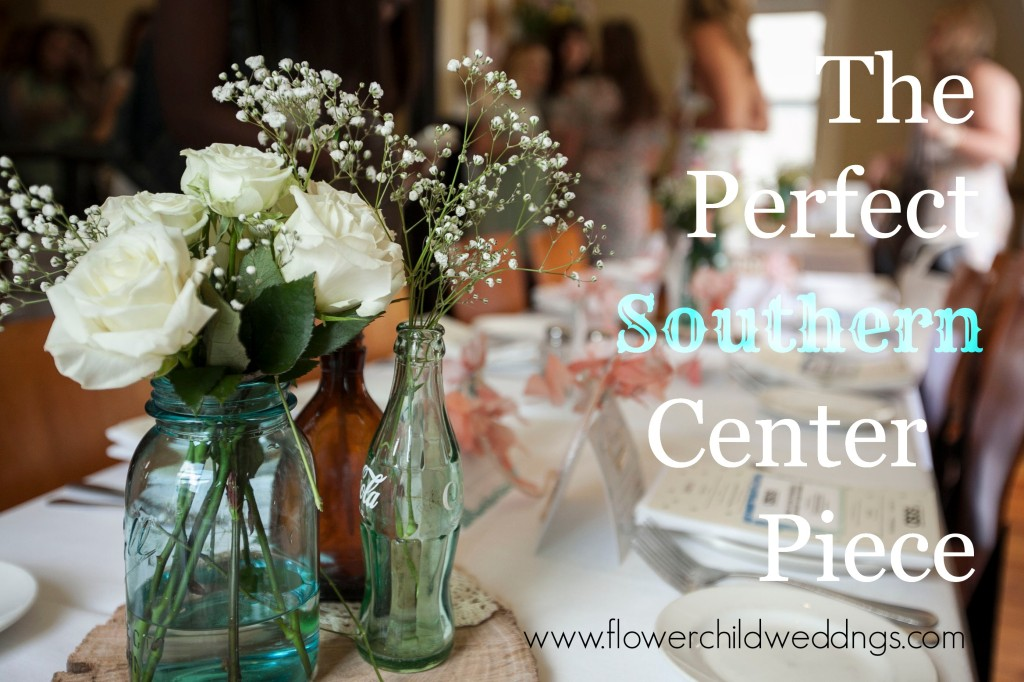 The Perfect Southern Center Piece. Design by Flower Child Weddings