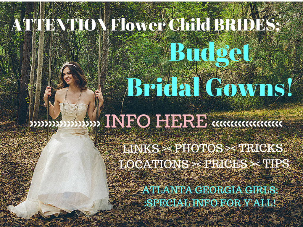 Flower Child Bride on a Budget: The Wedding Dress!